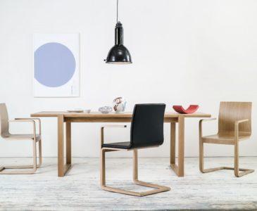 Kožené jídelní židle