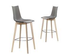 "Barová židle ""SGABELLO NATURAL ZEBRA ANTISHOCK"""