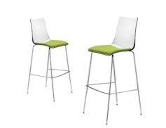 """Barová židle """"SGABELLO ZEBRA ANTISHOCK CON CUSCINO"""""""