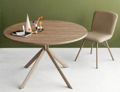 """Stůl jídelní kulatý rozklad. """"GIOVE wood"""""""