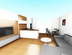 Kuchyně s obýv. prostorem