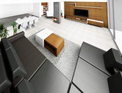 Obývací pokoj s Tv stěnou