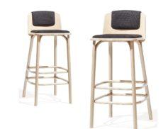 """Barová židle """"SPLIT"""" čaloun."""