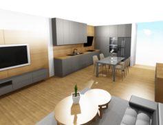 Kuchyň s obýv. prostorem
